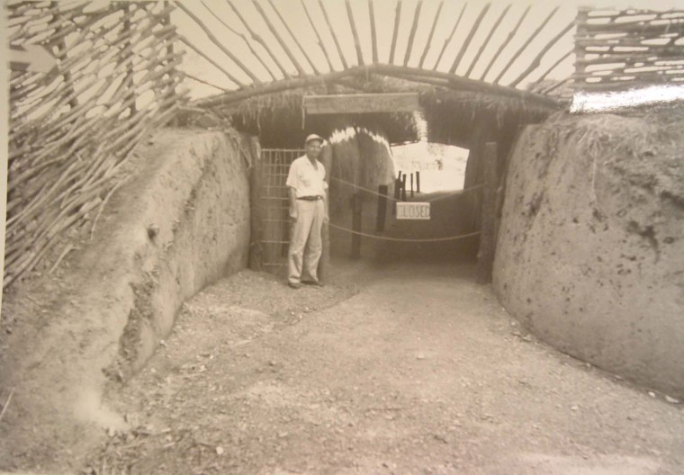 circa 1960s Residential Ridge Excavation Exhibit at Chucalissa